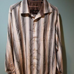 Tommy Bahama Silk Striped Overlay shirt size XL
